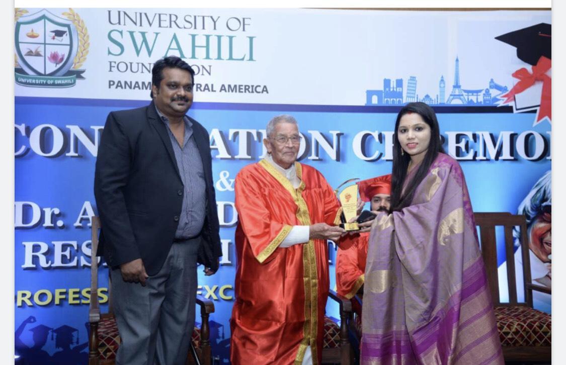 Dr. Abdul kalam research center professional award